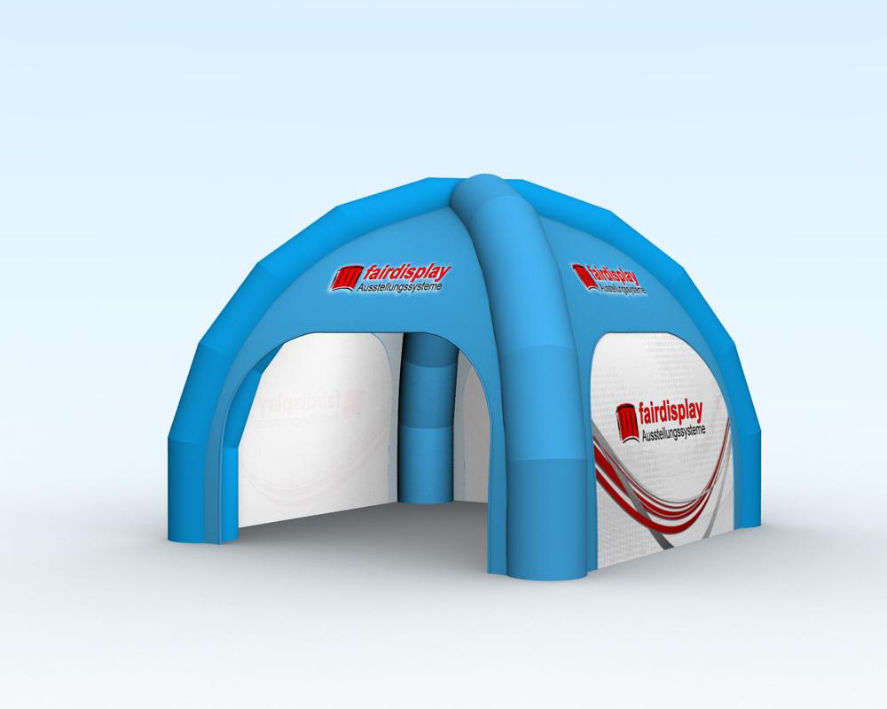 Aufblasbares Zelt mit gebläse